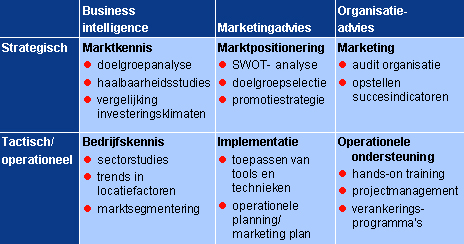Business intelligence, Marketingadvies en organisatieadvies